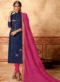 Blue Cotton Casual Wear Churidar Salwar Suit