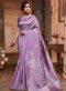 Purple Silk Zari Weaving Traditional Saree