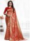 Red Green Silk Zari Weaving Traditional Saree