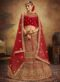 Red Velvet Embroidered Work Designer Wedding Lehenga Choli