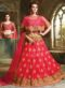 Pink Net Embroidered Work Designer Wedding Lehenga Choli