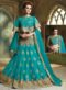 Turquoise Blue Net Embroidered Work Designer Wedding Lehenga Choli