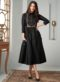 Black Cotton Embroidered Work Party Wear Kurti
