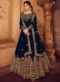 Blue Georgette Party Wear Designer Anarkali Suit