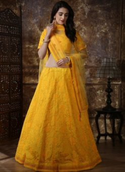Yellow Silk Sequence Work Designer Lehenga Choli