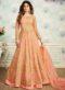 Pink Satin Designer Party Wear Salwar Kameez