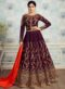 Gold Silk Embroidered Work Designer Anarkali Suit