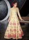 Gold Silk Embroidered Work Designer Anarkali Suit