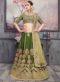 Green Silk Designer Embroidered Work Lehenga Choli