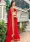 Red Silk Patch Border Designer Saree