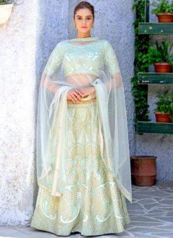 Green Silk Designer Wedding Lehenga Choli