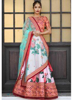 Pink Silk Designer Wedding Lehenga Choli