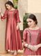 Maroon Cotton Embroidered Work Party Wear Kurti