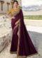 Miraamall Yellow Silk Embroidered Work Designer Saree