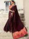 Yellow Silk Embroidered Work Designer Saree