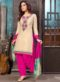 Cream Cotton Embroidered Work Designer Patiyala Salwar Suit