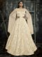 Cream Jacquard Designer Party Wear Gown