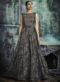 Grey Jacquard Designer Party Wear Gown