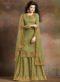 Green Silk Embroidered Work Designer Palazzo Suit