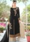 Buy Black Georgette Designer Palazzo Suit