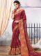Maroon Chiffon Printed Party Wear Saree