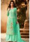 Latest Designer Party Wear Sea Green Plazzo Suit