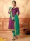 Designer Pruple Banarasi Silk Salwar Suit
