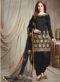 Black Designer Faux Georgette Patiyala Suit