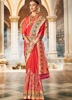 Designer Traditional Wear Silk Saree