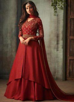 Designer Party Wear Aanarkali Suit