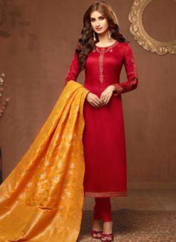 Designer Party Wear Jaam Silk Salwar Suit