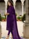 Purple Georgette Designer Party Wear Churidar Suit