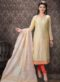 Designer Chanderi Silk Casual Wear Churidar Suit