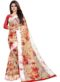 Partywear Designer Off White Soft Linen Silk Saree