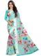 Partywear Designer Light Green Soft Linen Silk Saree