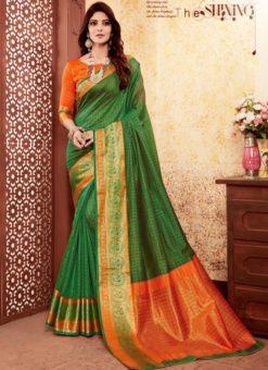 Wonderful Green Silk Traditional Saree