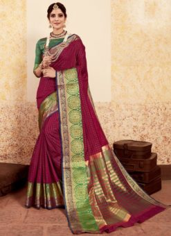 Lovley Pink Silk Traditional Saree
