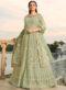 Elegant Green Georgette Floor Lengeth Anarkali Suit