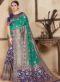 Sea Green Silk Zari Weaving Wedding Saree