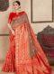 Brown Silk Zari Weaving Wedding Saree