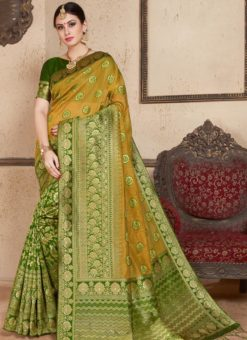 Green Silk Zari Weaving Wedding Saree