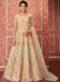Wonderful Cream Net Designer Embroidered Floor Salwar Suit