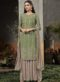 Cream Georgette Embroidered Work Designer Salwar Kameez