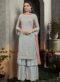 Peach Georgette Embroidered Work Designer Salwar Kameez