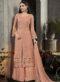 Grey And Pink Georgette Embroidered Work Designer Sawlar Kameez