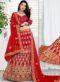 Designer Wedding Maroon Velvet Bridal Lahenga