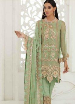 Peach Georgette Designer Pakistani Suit