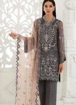 Grey Georgette Designer Pakistani Suit