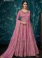 Silk Pink Embroidered Wrok Designer Floor Length Anarkali Suit