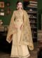 Party Wear Satin Designer Cream Palazzo Suit